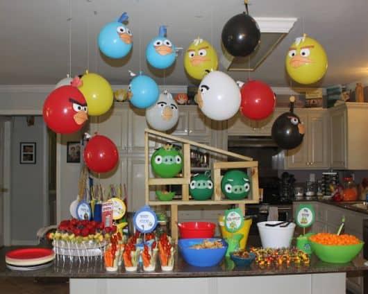 balões festa angry birds