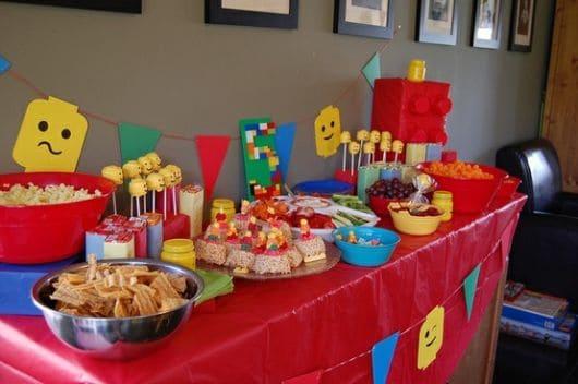 festa de aniversário lego como fazer