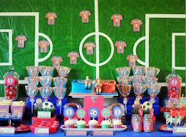 Ideias de decoração de festa futebol infantil