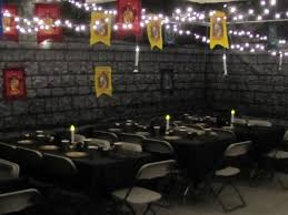 festa clean harry potter com centro de mesa