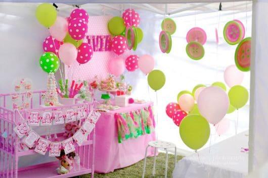 Decoração de festa Lalaloopsy com balões - Fotos