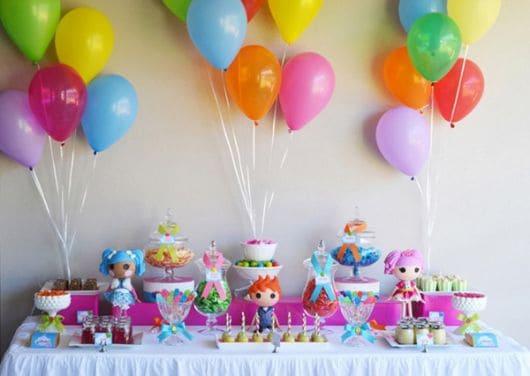 Ideias criativas para festa Lalaloopsy - decoração