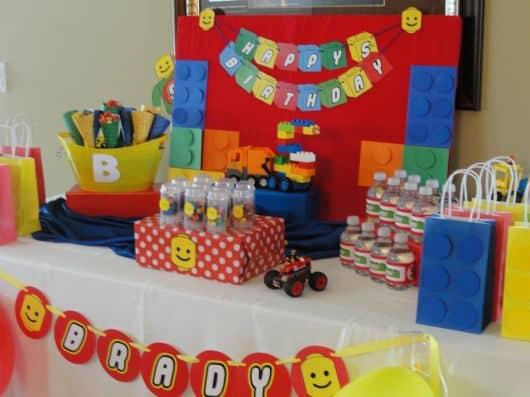 festa lego decoração mesa