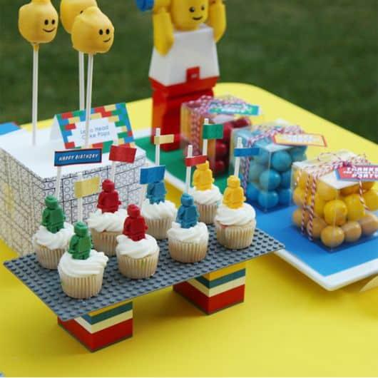 doces para aniversário tema Lego