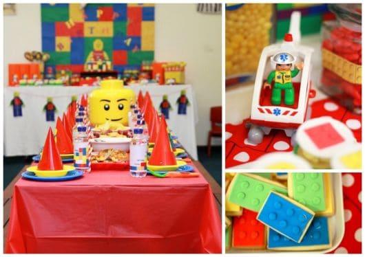 fotos de decorações festa lego