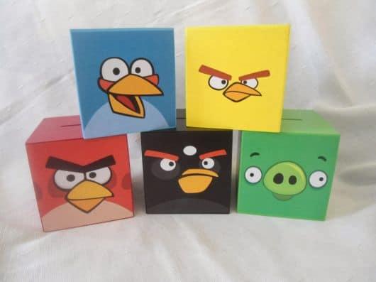 Lembrancinhas simples do angry birds