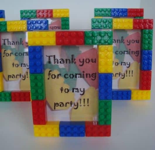 porta retrato lego - lembrancinhas com lego