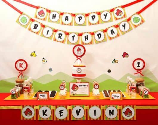 festa aniversário tema angry birds