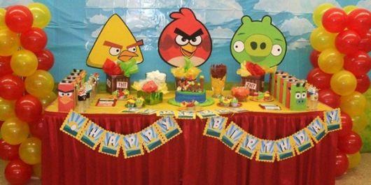 painel angry birds para aniversário