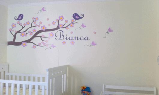 adesivos para quarto de bebeê menina