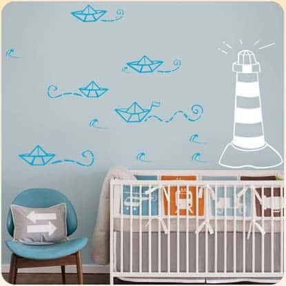 adesivos para quarto de bebê tema marinheiro