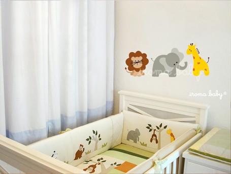 adesivos para quarto de bebê animais