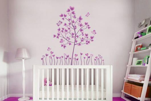 adesivos para quarto de bebê feminino