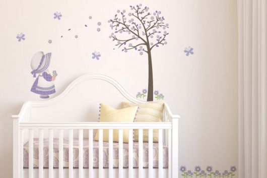 adesivos decorativos para quarto de bebê feminino