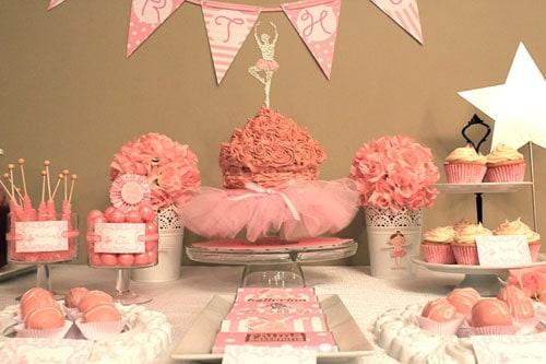 Fotos de bolo para festa infantil com tema bailarina