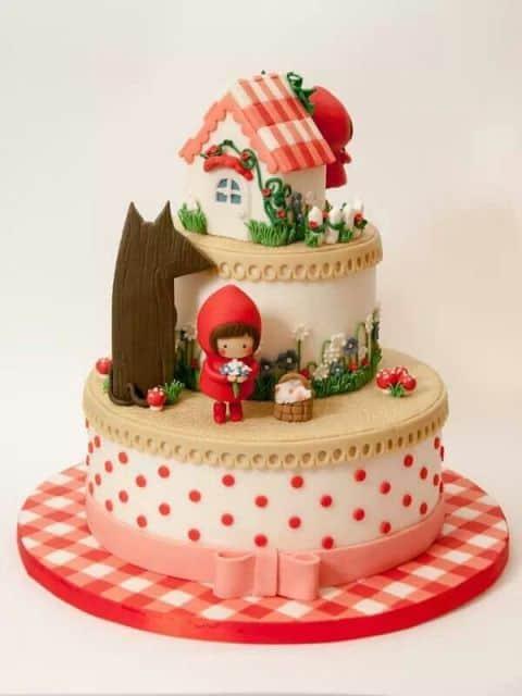 Fotos de bolo decorado para festa infantil da Chapeuzinho Vermelho - pinterest