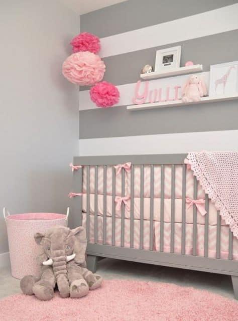 Cores simples e bonitas para quarto de menina