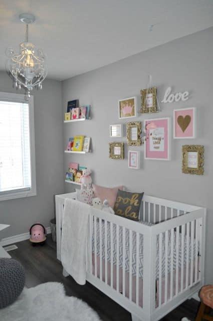como decorar quarto feminino de bebê