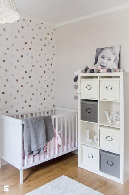 Decora o de quarto de beb simples for Cuartos para ninas simples