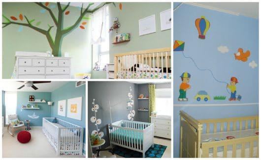 fotos de decorações simples para quarto de bebês
