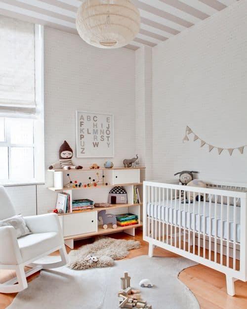 como decorar quarto branco de bebê