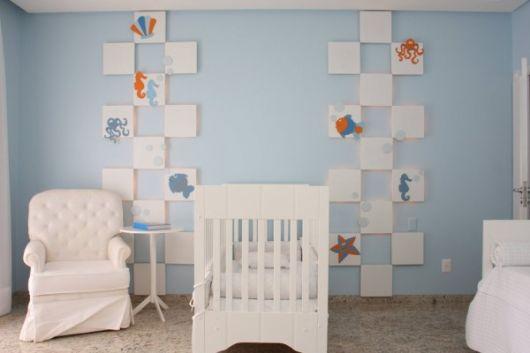 quarto de bebê simples azul