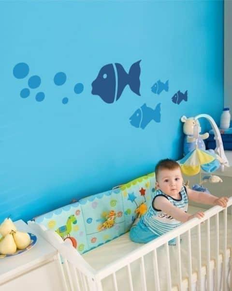 DECORAÇÃO DE QUARTO DE BEBÊ SIMPLES ~ Adesivos Quarto Bebe Masculino