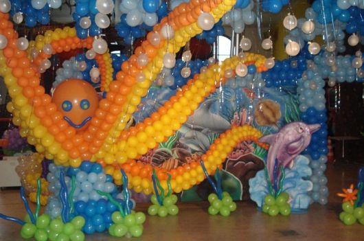foto de festa fundo do mar infantil