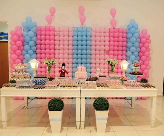 Mesa de bolo - Festa Bailarina e soldadinho - como decorar