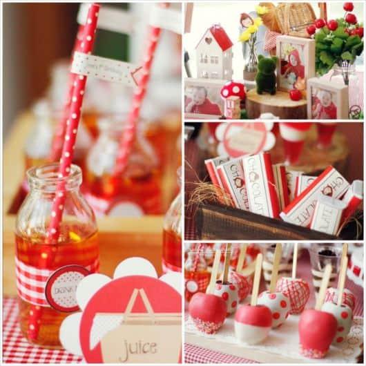 Fotos de doces decorados de Festa Chapeuzinho Vermelho
