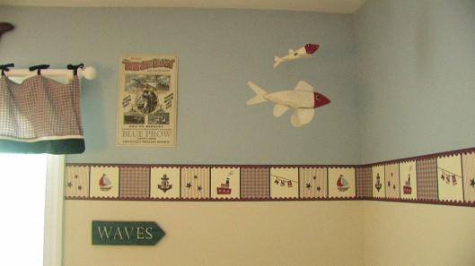 faixa para quarto de bebê menino marinheiro