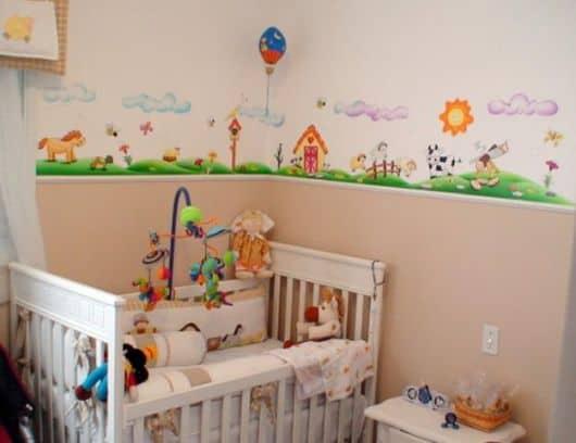 foto de modelo de faixa grossa colorida de parede