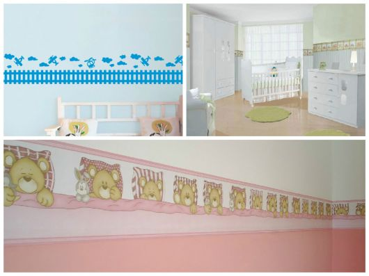 Diferentes faixas decorativas infantis