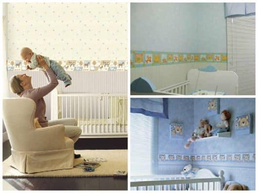 faixa para quarto de bebê safari