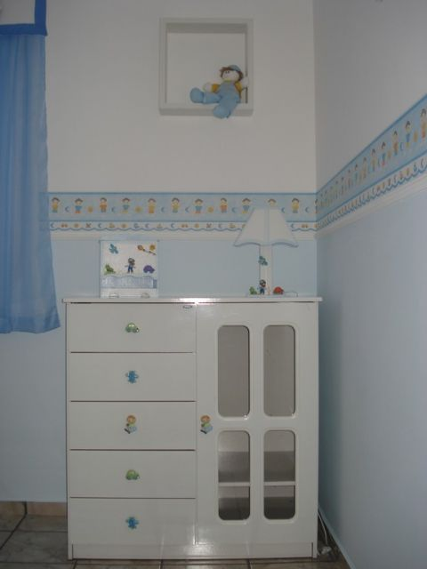 faixa para quarto de bebê azul