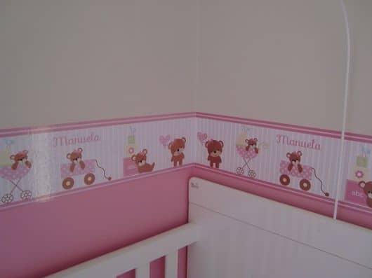 faixa para quarto de bebê personalizada
