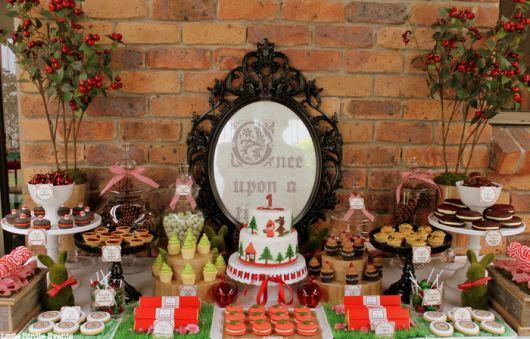 Como fazer decoração de Festa Chapeuzinho Vermelho provençal rústica