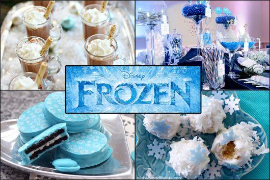 Dicas de decoração de Festa Frozen para menina