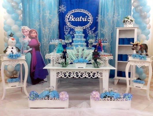 Decoração de festa Frozen provençal