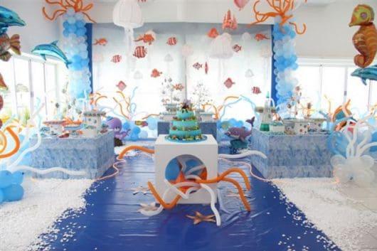 ideias de enfeites festa fundo do mar