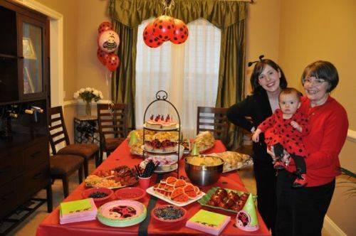 festa infantil joaninha em casa