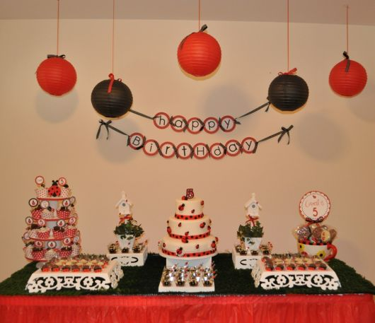 festa joaninha simples