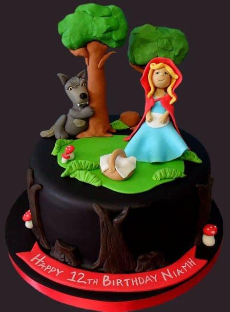 Ideias para topo de bolo Chapeuzinho Vermelho em biscuit