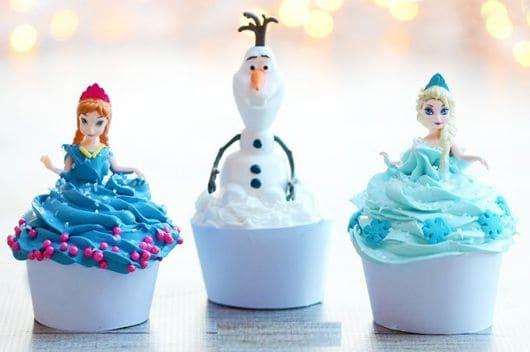 lembrancinha frozen cupcake