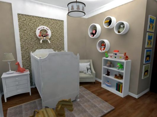 Quarto De Bebe Feminino Com Nichos ~ Fotos de decora??o de quarto de beb? com nichos