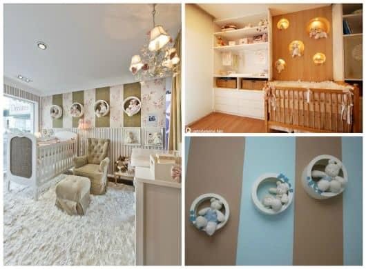 decoraçao com nichos para quarto de bebê