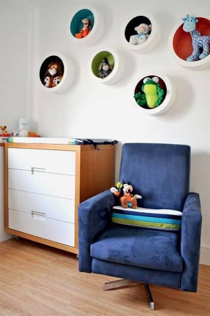 nichos para quarto de bebê - como pintar