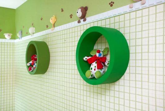 nichos para quarto de bebê masculino