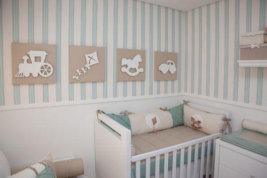Papel de parede para quarto de beb 40 ideias - Papel pared bebe ...