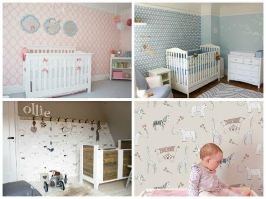 fotos de papel de parede infantil para quarto